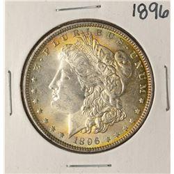 1896 $1 Morgan Silver Dollar Coin Amazing Toning
