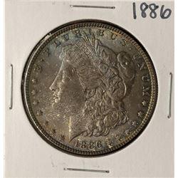 1886 $1 Morgan Silver Dollar Coin Nice Toning