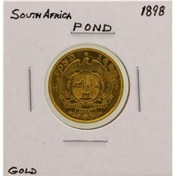 1898 South Africa 1 Pond Gold Coin