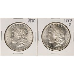 Lot of 1880 & 1880-S $1 Morgan Silver Dollar Coins