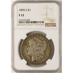 1895-S $1 Morgan Silver Dollar Coin NGC F12