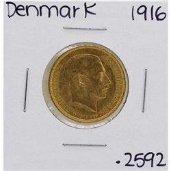 1916 Denmark Christian IX 20 Kroner Gold Coin