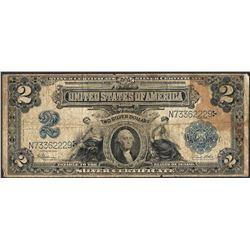 1899 $2 Mini-Porthole Silver Certificate Note