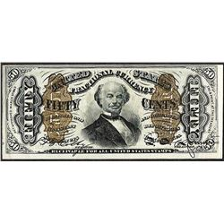 March 3, 1863 50 Cents Third Issue Fractional Currency Note
