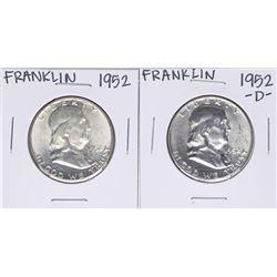 Lot of 1952 & 1952-D Franklin Half Dollar Coins