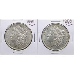 Lot of 1881-O & 1883-O $1 Morgan Silver Dollar Coins