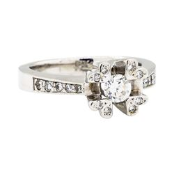 18KT White Gold 0.55 ctw Diamond Ring