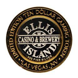 .999 Fine Silver Ellis Island Casino Las Vegas, NV $10 Limited Edition Gaming To