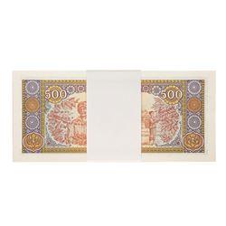 Pack of (100) Uncirculated 1988 Laos 500 Kip Bank Notes