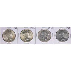 Lot of 1922-1925 $1 Peace Silver Dollar Coins