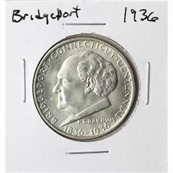 1936 Bridgeport Commemorative Half Dollar Coin