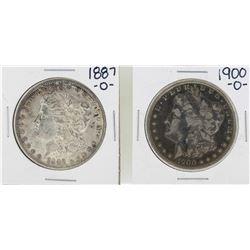1887-O & 1900-O $1 Morgan Silver Dollar Coins