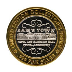.999 Fine Silver Sam's Town Casino Tunica $10 Limited Edition Gaming Token