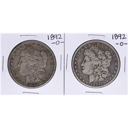 Lot of (2) 1892-O $1 Morgan Silver Dollar Coins