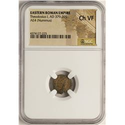 Theodosius I, 379-395 AD Ancient Eastern Roman Empire Coin NGC Ch VF