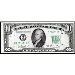 1950A $10 Federal Reserve Note Uncirculated
