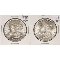 Lot of 1888-O & 1902-O $1 Morgan Silver Dollar Coins