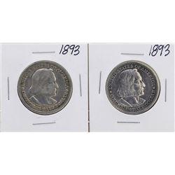 Lot of (2) 1893 Columbian Exposition Half Dollar Coins