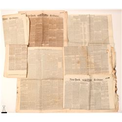 Newspapers / The 14th Amendment / 7 pieces.  (102099)