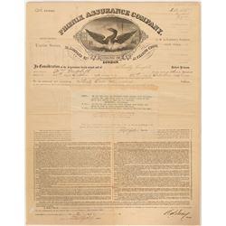Phoenix Assurance Fire Insurance Certifcate  (91502)