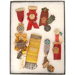 Massachusetts and PA. Fire Fighter Ribbons (10)  (101750)