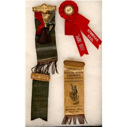 Massachusetts Fire Fighter Ribbons (4)  (101744)