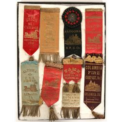 Pennsylvania Fire Fighters Convention Ribbons (8)  (101749)