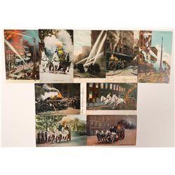 Firefighter Postcards (9)  (101734)