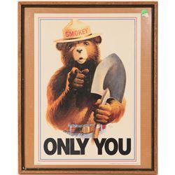 Smokey the Bear Print in Frame  (91517)