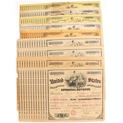 Auburn, CA Tobacco Tax Certificates (10)  (81435)