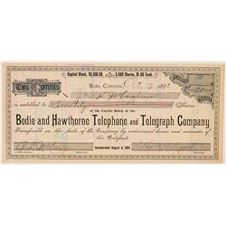 Bodie & Hawthorne Telephone & Telegraph Co. Stock Certificate  (100875)