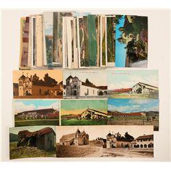 Carmel/Monterey Area Mission Postcards  (102662)