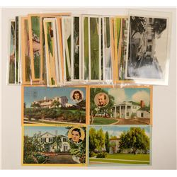 Famous Hollywood, CA Residences Postcards  (102357)