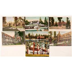 Lake Tahoe, CA Landmark Postcards (7)  (90736)