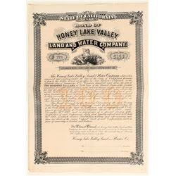 Honey Lake Valley Land & Water Co. Bond  (100805)