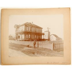 Gridley Lewis Sacramento, CA House Mounted Photo  (81559)