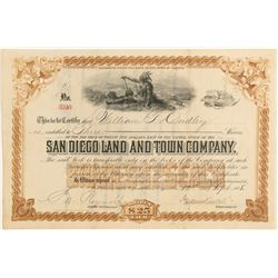 San Diego Land and Town Company Stock  (991963)