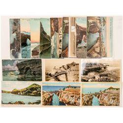San Diego, CA Cliffs Postcards  (102375)