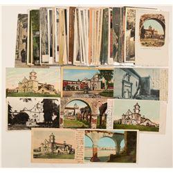San Diego, CA Area Mission Postcards  (102654)
