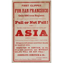 Clipper Card for the Asia with Cowen at the Command  (57469)