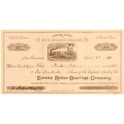 Eureka Roller-Bearings Company with unique vignette and tie to horse racing  (102317)