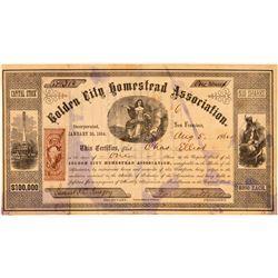 Golden City Homestead Association Stock Certificate  (101493)