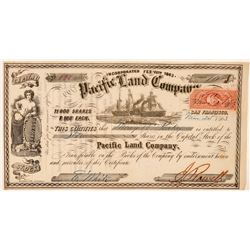 Pacific Land Company Stock Certificate  (101492)