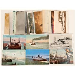 Ships at San Francisco Bay, Post Cards Chromolitho's  (102772)