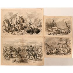 "Lithographs / California "" Gold Rush"" & Others / 4 Items    (102135)"