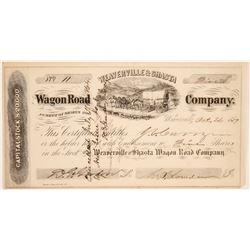 Weaverville & Shasta Wagon Road Company Stock  (102315)