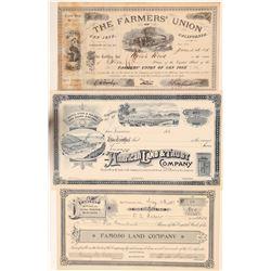 Three California Land Company Stocks  (103542)