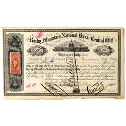 Rocky Mountain National Bank Stock Certificate  (91786)