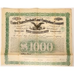 United States Freehold Land and Emigration Company Bond  (91882)