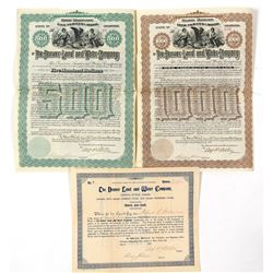 Denver Land & Water Company Bonds & Stock  (91774)